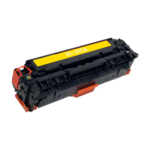Remanufactured Toner Cartridge Replacement for HP 305A Yellow CE412A