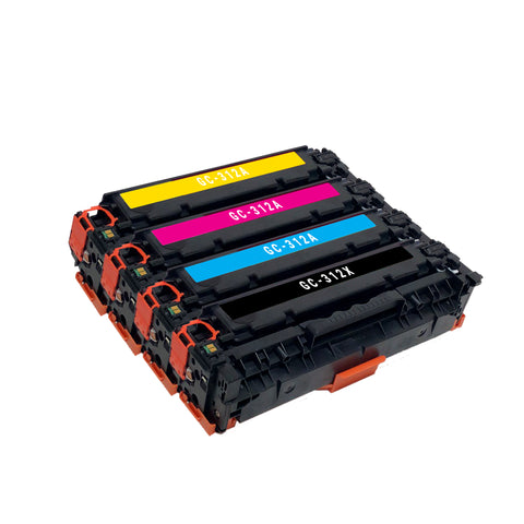Remanufactured Toner Cartridge Replacement for HP 312X 312A CF380X CF381A CF382A CF383A (4 PACK)