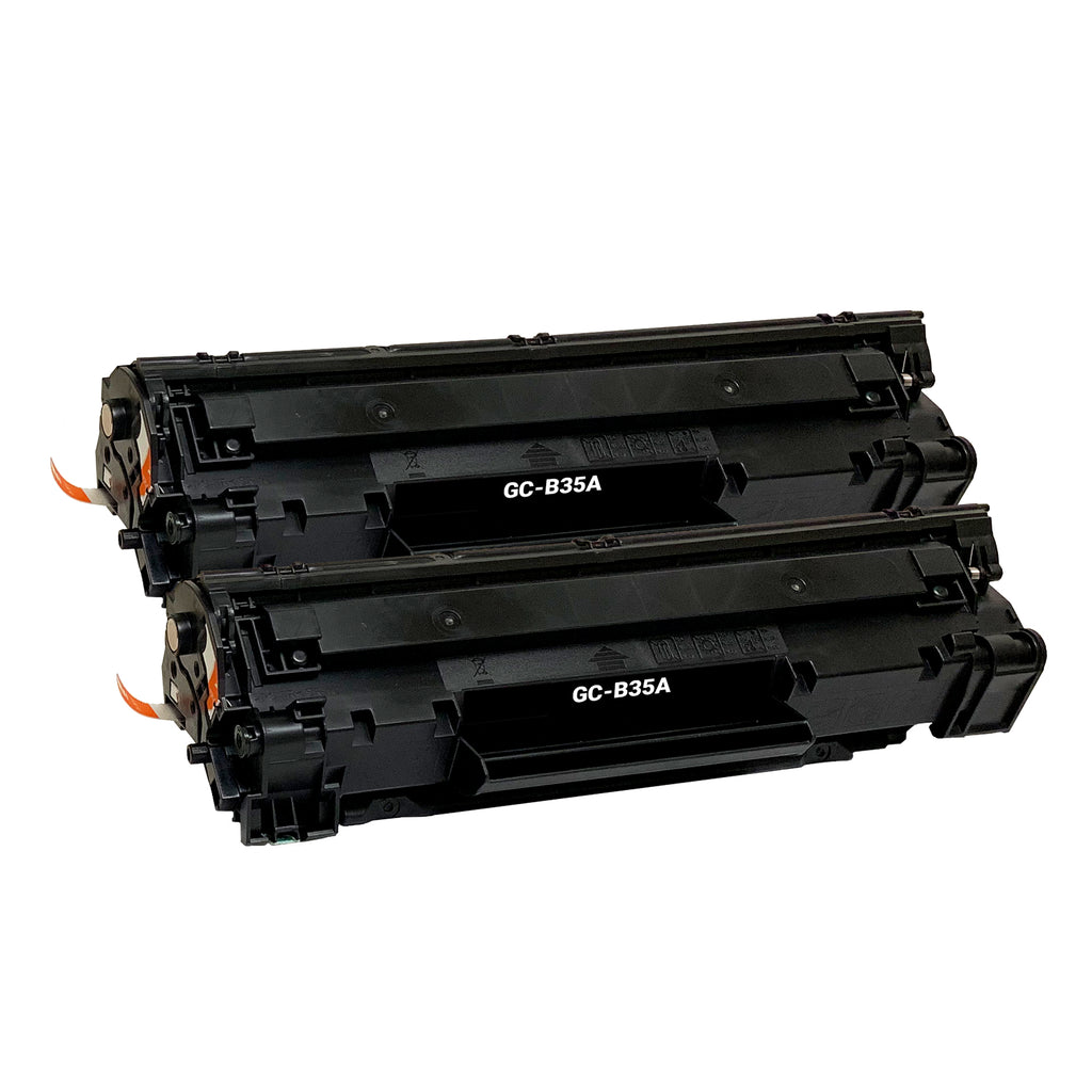 Remanufactured Toner Cartridge Replacement for HP 35A CB435A (2 PACK)