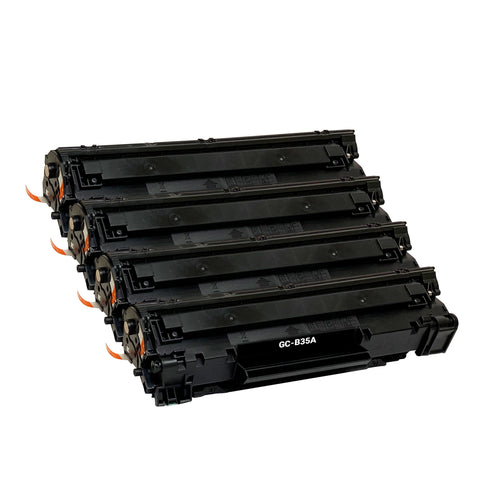 Remanufactured Toner Cartridge Replacement for HP 35A CB435A (4 PACK)