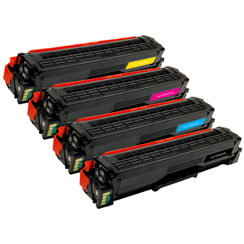 Set of 4 Compatible Samsung CLT-K504 Black CLT-C504S Cyan CLT-M504S Magenta & CLT-Y504S Yellow Laser Toner Cartridges