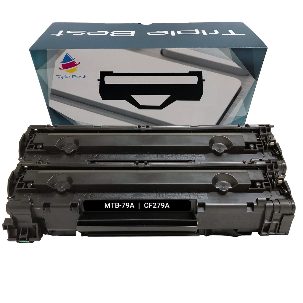 Remanufactured Toner Cartridge Replacement for HP 79A CF279A (2 PACK)