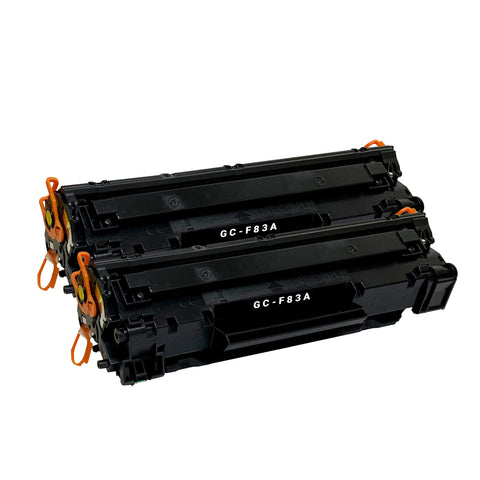 Remanufactured Toner Cartridge Replacement for HP 83X 83A CF283A (2 Pack)