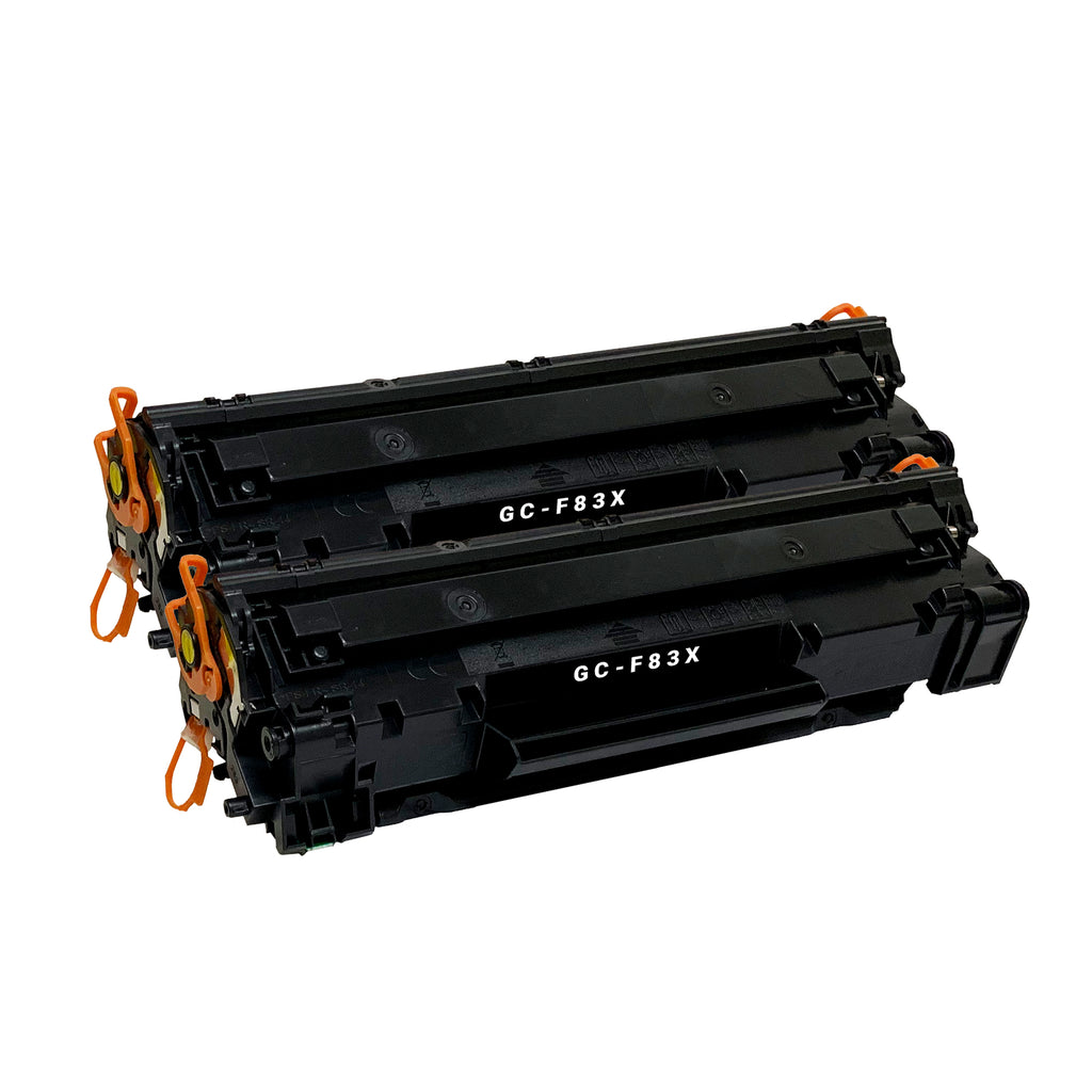 Remanufactured Toner Cartridge Replacement for HP 83X 83A CF283X (2 PACK)