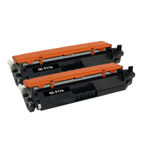 Remanufactured Toner Cartridge Replacement for HP 17A CF217A (2 PACK)