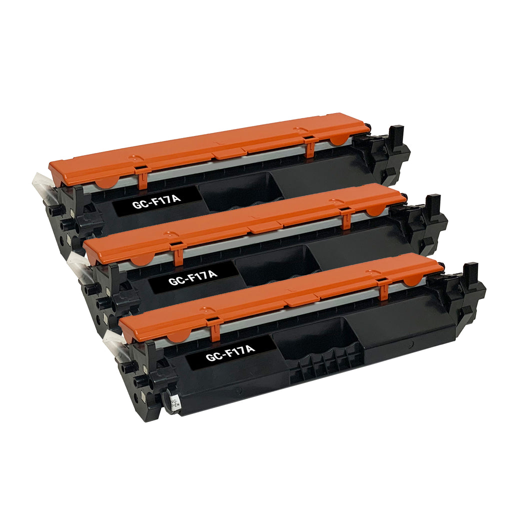 Remanufactured Toner Cartridge Replacement for HP 17A CF217A (3 PACK)