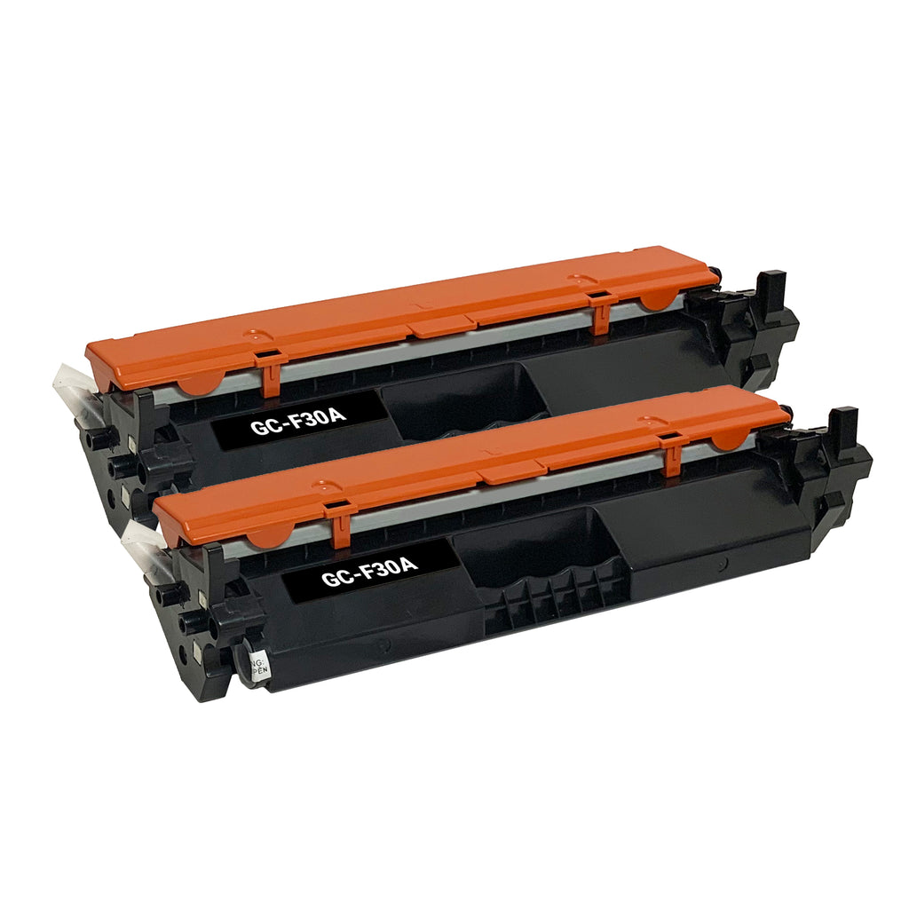 Remanufactured Toner Cartridge Replacement for HP  30A CF230A (2 Pack)