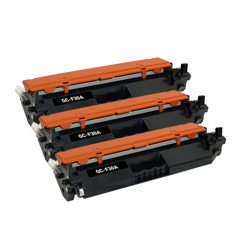 Remanufactured Toner Cartridge Replacement for HP  30A CF230A (3 PK)