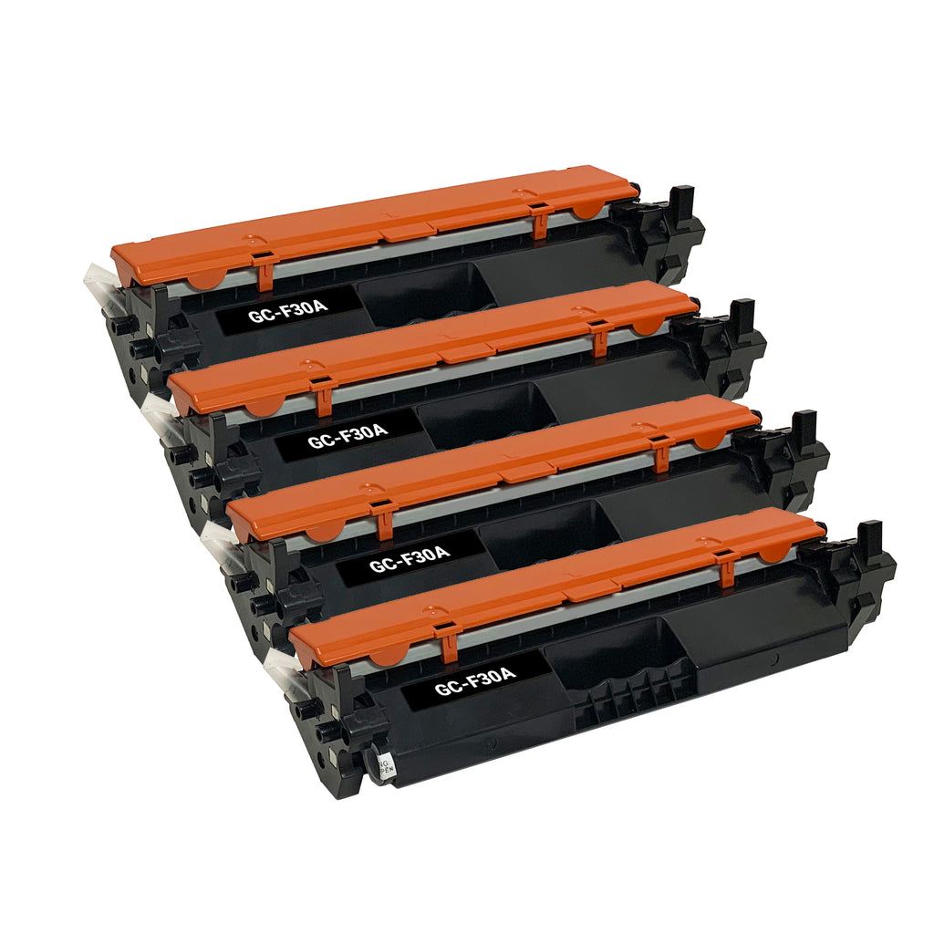 Remanufactured Toner Cartridge Replacement for HP  30A CF230A (4 PK)