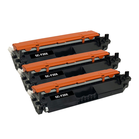 Remanufactured Toner Cartridge Replacement for HP 30X CF230X (3 PACK)
