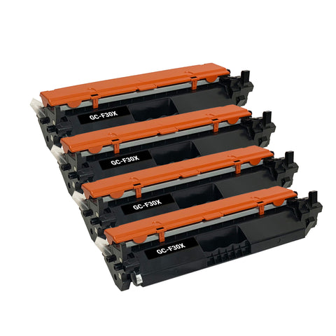 Remanufactured Toner Cartridge Replacement for HP 30X CF230X (4 PACK)