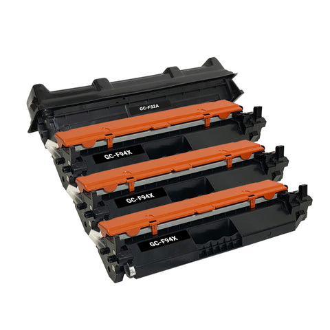 Remanufatured Toner Cartridge for HP 94X CF294X & Drum Unit 32A CF232A (3 X Toner& 1 X Drum)