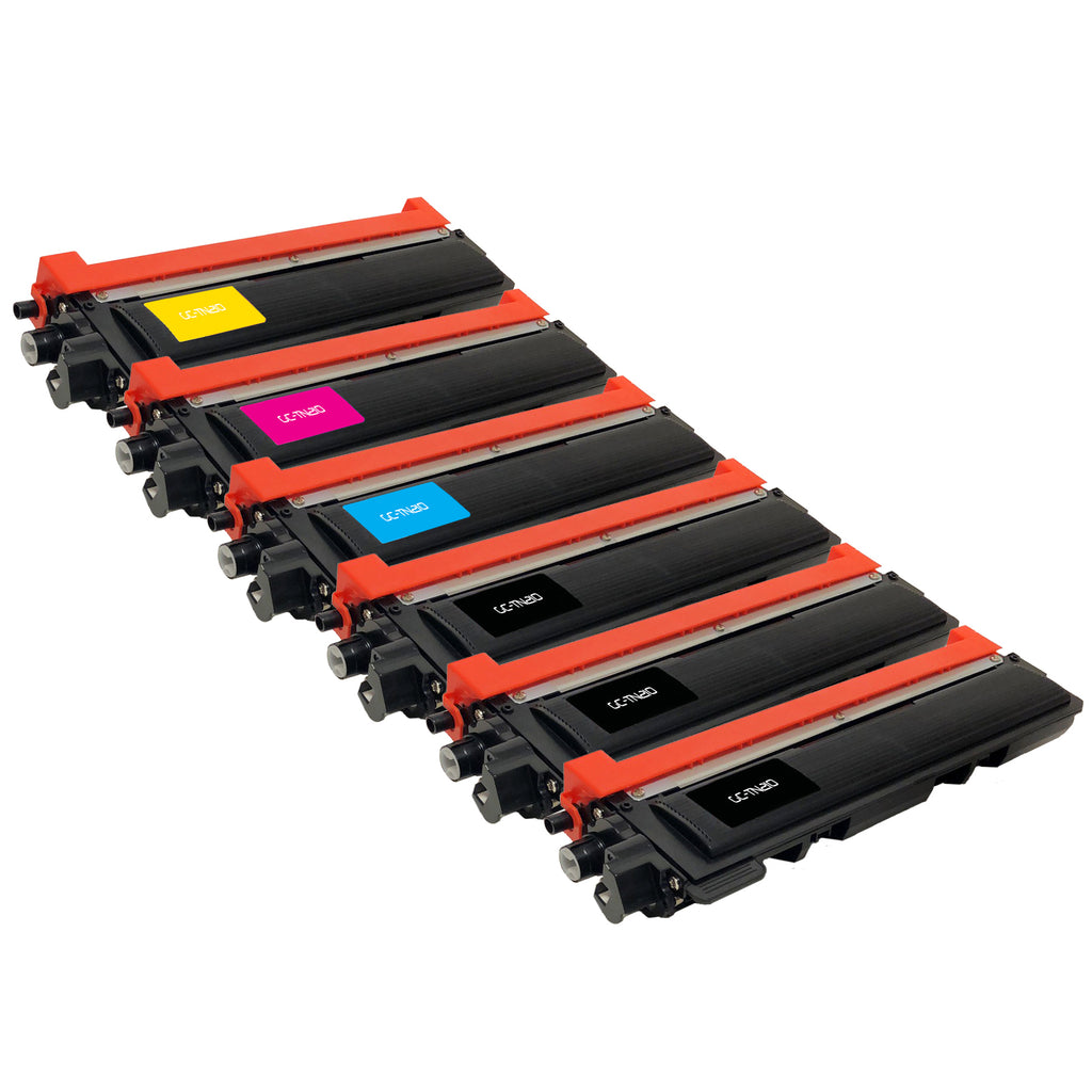 Compatible Toner Cartridge Replacement for Brother TN-210 TN-210BK TN-210C TN-210M TN-210Y TN210 TN210BK TN210C TN210M TN210Y (6 PACK)