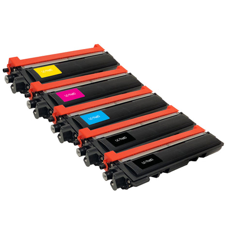 Compatible Toner Cartridge Replacement for Brother TN-210 TN-210BK TN-210C TN-210M TN-210Y TN210 TN210BK TN210C TN210M TN210Y (5 PACK)