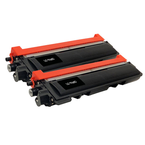 2 Pack Compatible Brother TN210 (TN-210BK) Black Laser Toner Cartridges