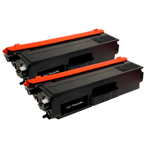 Compatible Toner Cartridge Replacement for Brother TN-336 TN336 TN-336BK TN336BK (2 PACK)