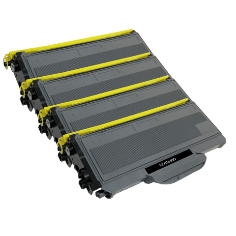 Compatible Toner Cartridge Replacement for Brother TN-360 TN360 (4 PACK)