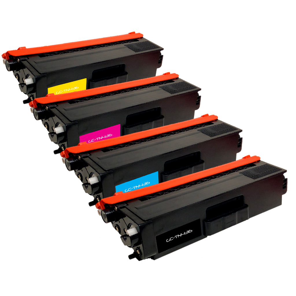 Compatible Toner Cartridge Replacement for Brother TN-436 TN436 TN-436BK TN436BK TN-436C TN436C TN-436M TN436M TN-436Y TN436Y (4 PACK)