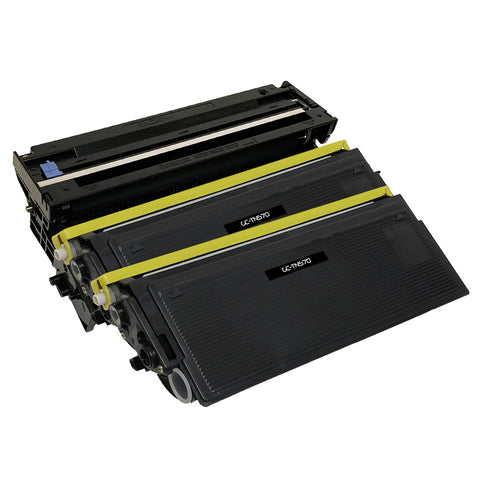 Compatible Toner Cartridge & Drum Unit Replacement for Brother TN-570 TN570 DR-510 DR510 (2 x Toner & 1 x Drum)