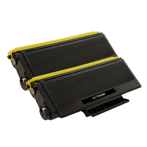 Compatible Toner Cartridge Replacement for Brother TN-580 TN580 (2 PACK)