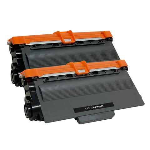 Compatible Toner Cartridge Replacement for Brother TN-750 TN750 (2 PACK)
