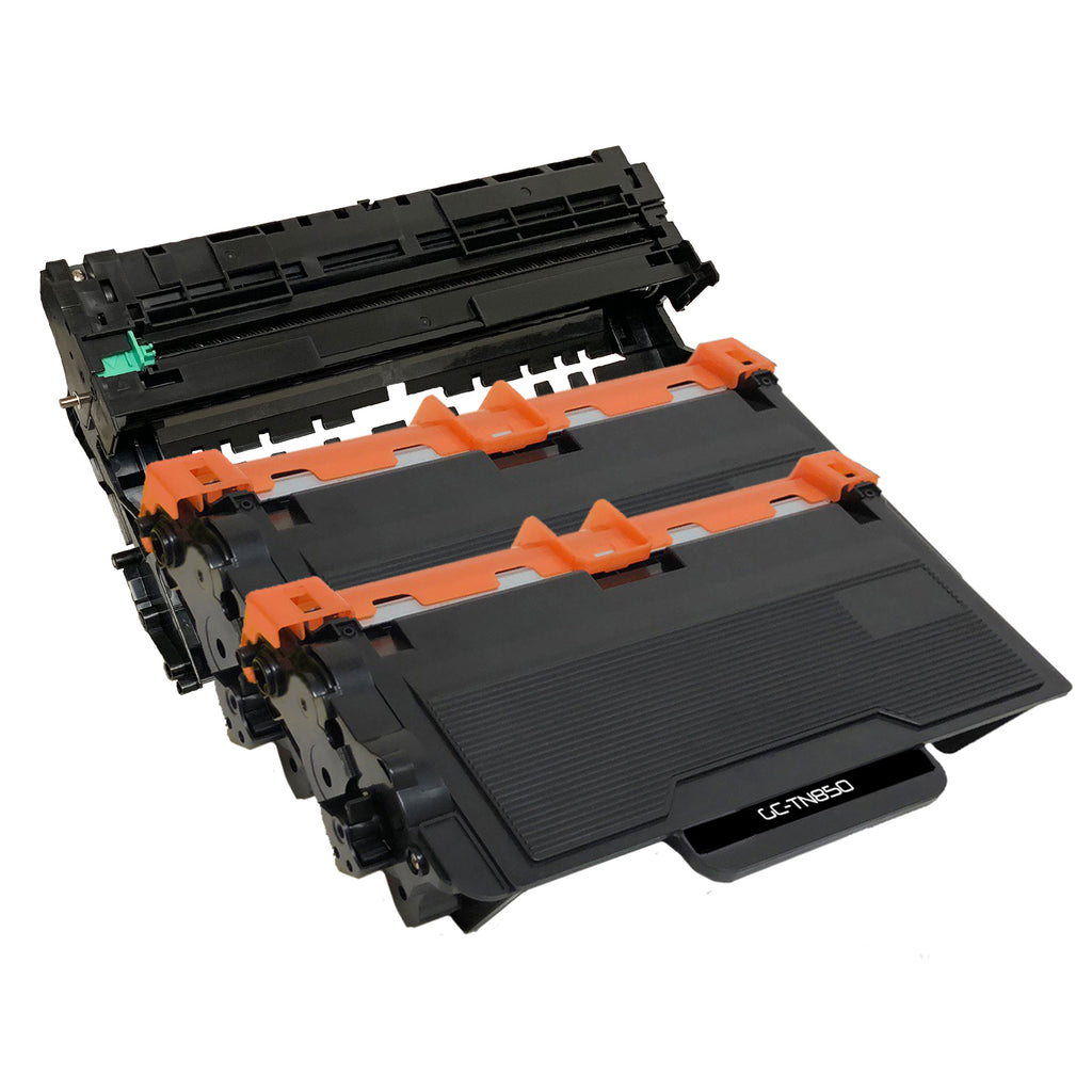 Compatible Toner Cartridge & Drum Unit Replacement for Brother TN-850 TN850 DR-820 DR820 (2 x Toner & 1 x Drum)