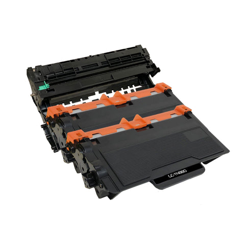 Compatible Toner Cartridge & Drum Unit Replacement for Brother TN-880 TN880 DR-820 DR820 (2 x Toner & 1 x Drum)