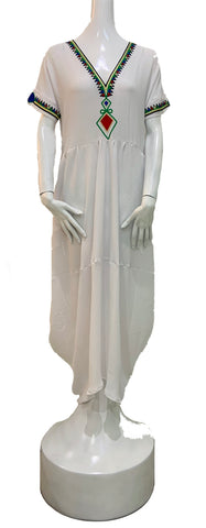 Menen Puffy Dress White