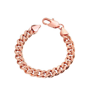 "Class Curb Bracelet in 7.5"" in 14K Rose Gold Plated, Bracelet, Riakoob Jewelry, Riakoob Jewelry  jewelryjewelry deals, swarovski crystal jewelry, groupon jewelry,, jewelry for mom,"