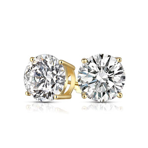 Swarovski Elements Round Stud Earrings in 14K Gold Plated