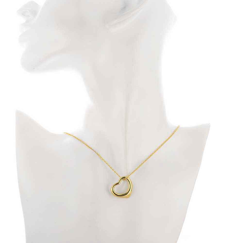 Classic Tiffany Inspired Heart Necklace in 18K Gold Plated