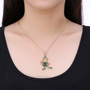 St Pattys Day Necklace in 18K Gold Plated