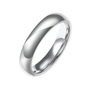 Stainless Steel Comfort Fit Unisex Band Ring - Riakoob Jewelry www.goldennycjewelry.com fashion jewelry for women