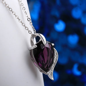 Amethyst Pear Cut Drop Necklace