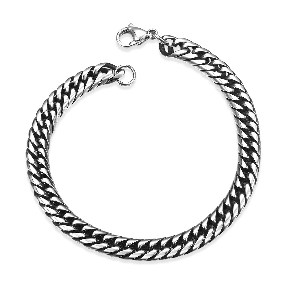 Father's Day Gift Italian Classic Stainless Steel Link Bracelet