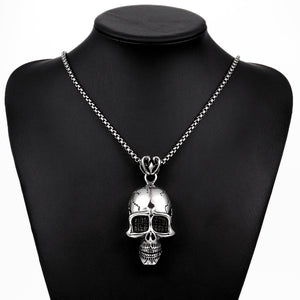 Death Skull Necklace in Stainless Steel