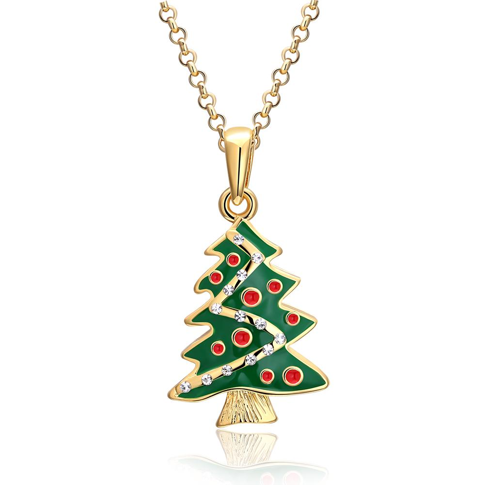 18K Gold Plated Christmas Tree Swarovski Necklace - Three Options Available, , Riakoob Jewelry, Riakoob Jewelry  jewelryjewelry deals, swarovski crystal jewelry, groupon jewelry,, jewelry for mom,