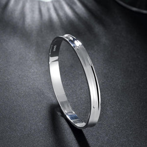 "Classic 7"" Slip on Bangle in 18K White Gold Plated, Bracelet, Riakoob Jewelry, Riakoob Jewelry  jewelryjewelry deals, swarovski crystal jewelry, groupon jewelry,, jewelry for mom,"