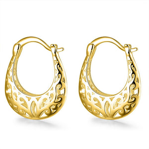 Filigree Leverback French Lock Earringin 18K Gold Plated, Earring, Riakoob Jewelry, Riakoob Jewelry  jewelryjewelry deals, swarovski crystal jewelry, groupon jewelry,, jewelry for mom,