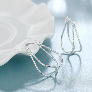Large Hoop Earring in 18K White Gold Plated