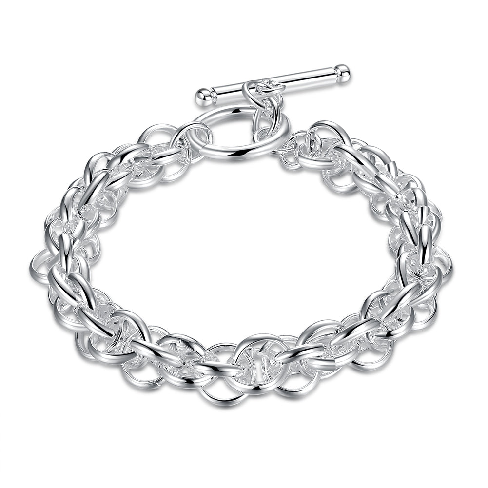 Father's Day Multi-Cable Wire Toggle Clasp Link Bracelet