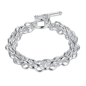 Father's Day Gift Multi-Cable Wire Toggle Clasp Link Bracelet