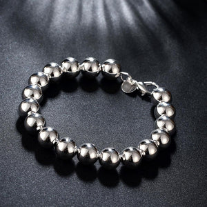 Large Ball Bracelet in 18K White Gold Plated