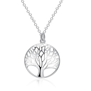 Tree of Life Necklace in 18K White Gold Plated