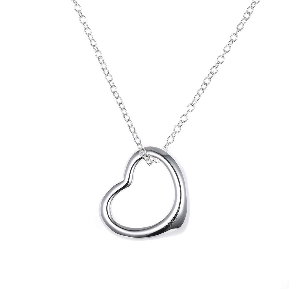 Baby Heart Necklace in 18K White Gold Plated, Necklace, Riakoob Jewelry, Riakoob Jewelry  jewelryjewelry deals, swarovski crystal jewelry, groupon jewelry,, jewelry for mom,