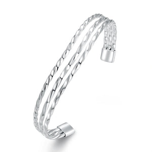 The Port 18K White Gold Plated Bangle