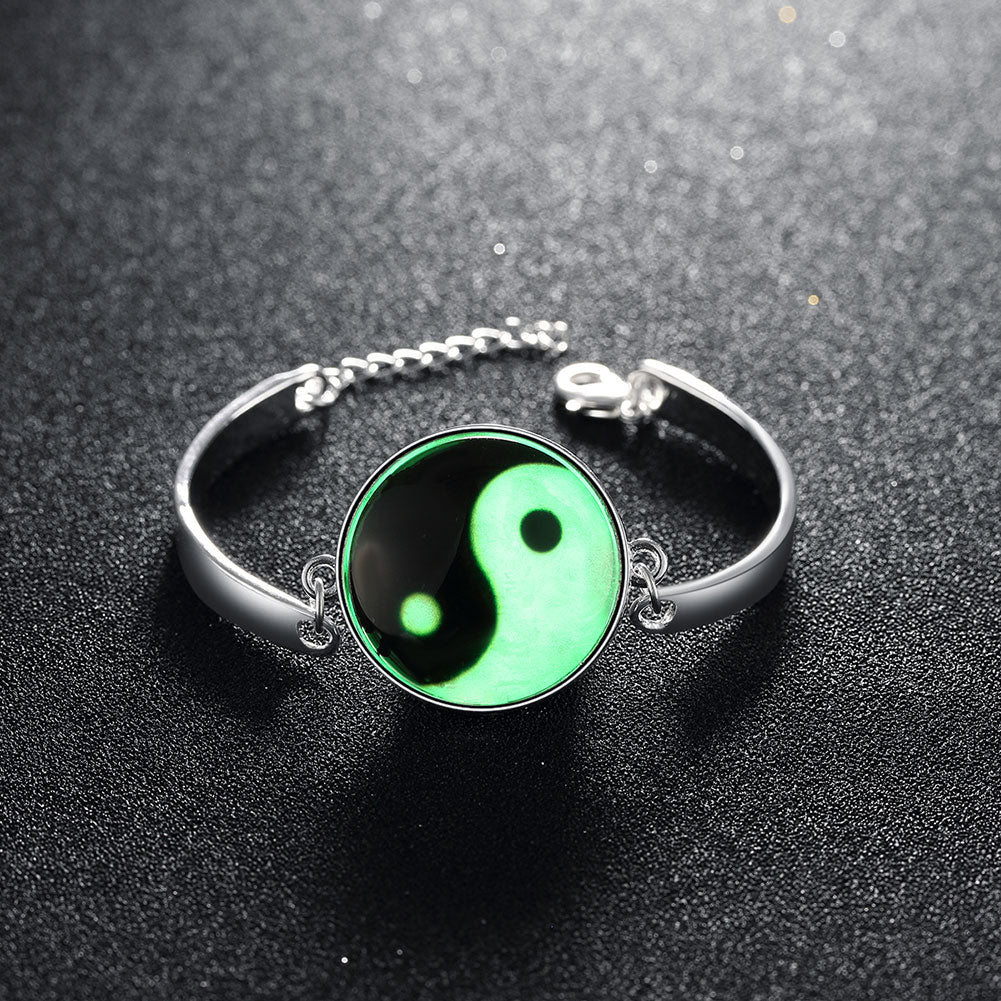 Glow in the Dark Reflective Light Ying Yang Bracelet