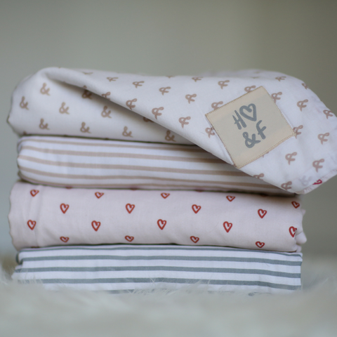 Organic cotton baby blanket collection.
