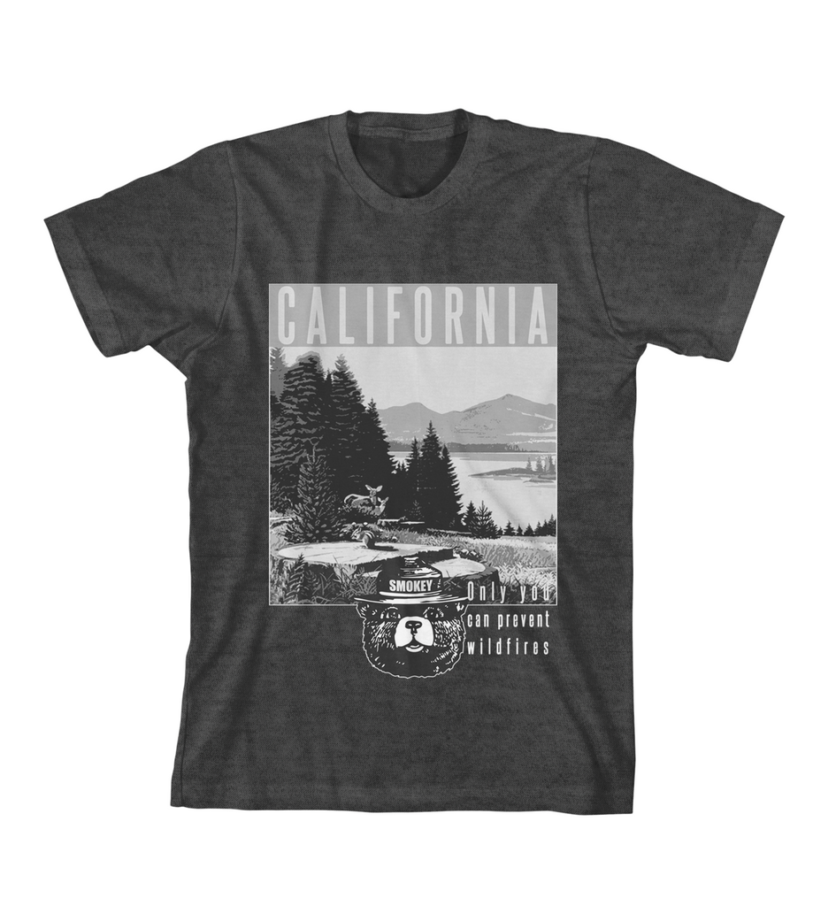 California Smokey Bear Tee - Charcoal