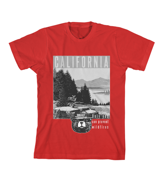 California Smokey Bear Tee - Red